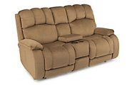 Flexsteel Huron Reclining Loveseat with Console