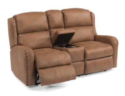 Flexsteel Cameron Power Reclining Loveseat with Console
