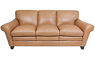 Flexsteel Sofia Cream 100% Leather Sofa