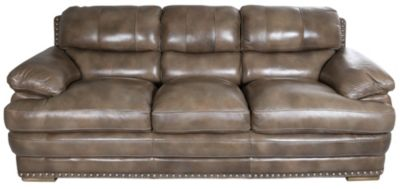 Flexsteel Dylan Mocha 100% Leather Sofa