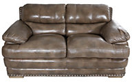 Flexsteel Dylan Mocha 100% Leather Loveseat