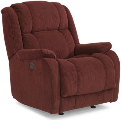 Flexsteel Marcus Burgundy Power Rocker Recliner