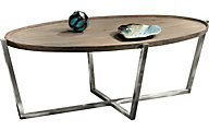 Flexsteel Platform Oval Coffee Table