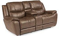 Flexsteel Hillard Power Reclining Loveseat with Console