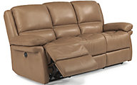 Flexsteel Skyler Leather Power Reclining Sofa
