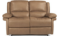 Flexsteel Skyler Leather Power Reclining Loveseat