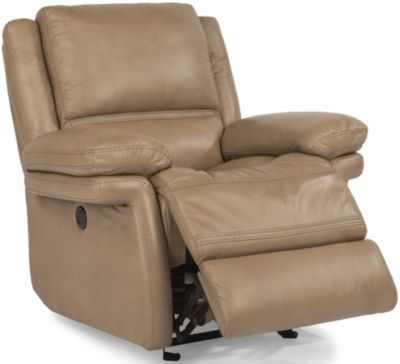 Flexsteel Skyler Leather Power Glider Recliner
