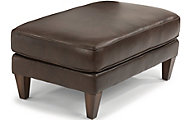 Flexsteel Digby 100% Leather Cocktail Ottoman