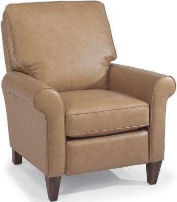 Flexsteel Westside 100% Leather High-Leg Recliner