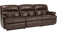 Flexsteel Triton 3-Piece Leather Power Reclining Sofa