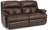 Flexsteel Triton 2-Piece Leather Power Reclining Loveseat