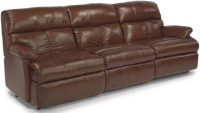 Flexsteel Triton 3 Piece 100 Leather Reclining Sofa