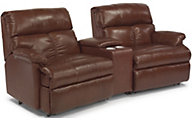 Flexsteel Triton 3-Piece Leather Console Reclining Sectional