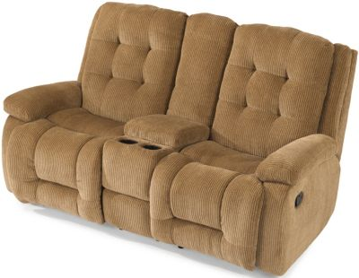 Flexsteel Paxton Power Reclining Loveseat with Console