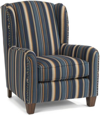 Flexsteel Perth Striped Wing Chair