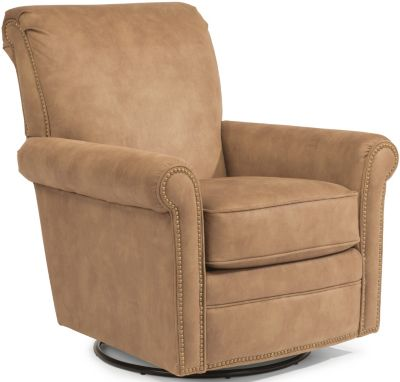 Flexsteel Plaza Tan Swivel Glider