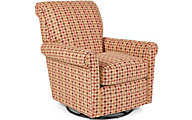 Flexsteel Plaza Houndstooth Swivel Glider
