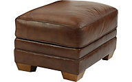 Flexsteel Harrison 100% Leather Ottoman