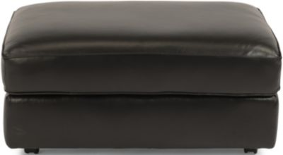 Flexsteel Vail Black 100% Leather Ottoman