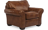 Flexsteel Vail Brown 100% Leather Accent Chair