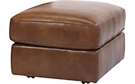 Flexsteel Vail Brown 100% Leather Ottoman