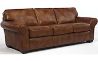 Flexsteel Vail Bronze 100% Leather Sofa