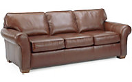 Flexsteel Vail Brown 100% Leather Sofa