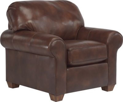 Flexsteel Thornton Brown 100% Leather Accent Chair