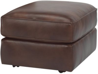 Flexsteel Thornton 100% Leather Ottoman