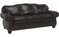 Flexsteel Bexley Brown Leather Sofa