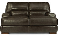 Flexsteel Jillian 100% Leather Loveseat