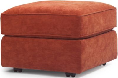 Flexsteel Vail Orange Ottoman