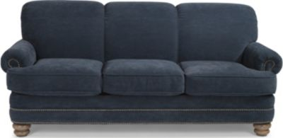 Flexsteel Bay Bridge Blue Sofa