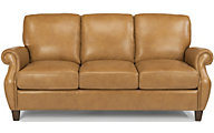Flexsteel Exton Caramel 100% Leather Sofa