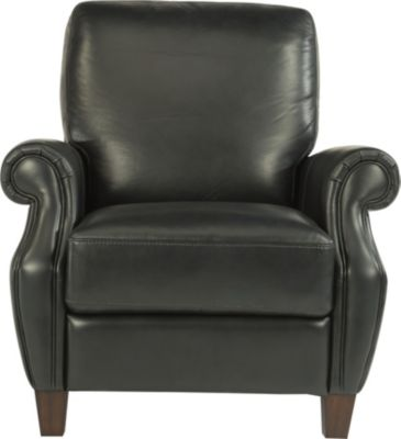 Flexsteel Exton Black 100% Leather Power Recliner