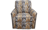Flexsteel Digby Chevron Swivel Chair