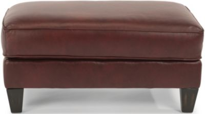 Flexsteel Westside 100% Leather Ottoman
