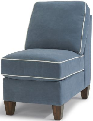 Flexsteel Westside Blue Armless Chair