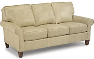 Flexsteel Westside Cream 100% Leather Sofa