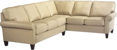 Flexsteel Westside Cream 100% Leather 2-Piece Sectional