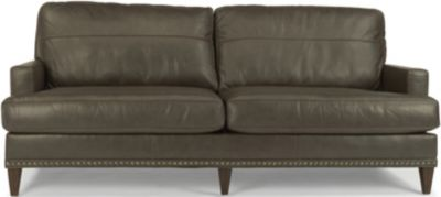Flexsteel Ocean 100% Leather Sofa