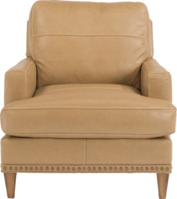 Flexsteel Ocean Cream 100% Leather Accent Chair