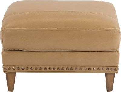 Flexsteel Ocean Cream 100% Leather Ottoman