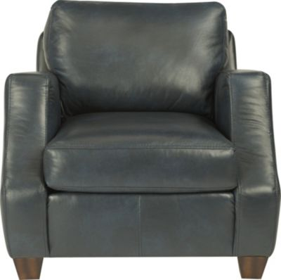 Flexsteel Grayson Blue 100% Leather Accent Chair