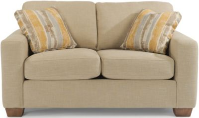 Flexsteel Kennicot Cream Loveseat