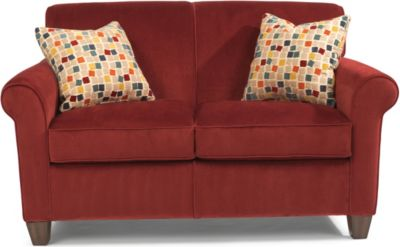 Flexsteel Dana Red Loveseat