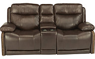Flexsteel Russell Leather Power Recliner with Power Headrest