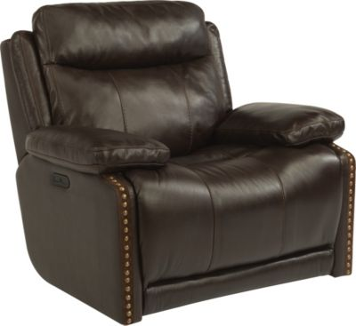 Flexsteel Russell Glider Recliner with Power Headrest
