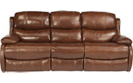 Flexsteel Amsterdam Brown Leather Reclining Sofa