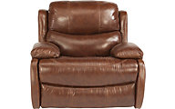 Flexsteel Amsterdam Mocha Leather Glider Recliner
